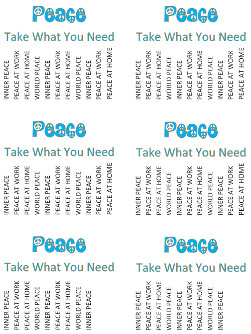 Take What You Need Flyers jpg